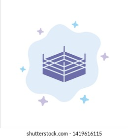 Boxing, Ring, Wrestling Blue Icon on Abstract Cloud Background