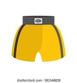 Boxing shorts isolated. boxer Clothing for athlete on white background