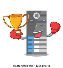 Boxing winner data server above the cartoon tables