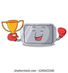 Boxing winner Narrow baking tray with layer cartoon