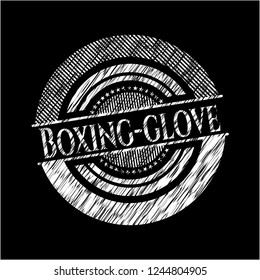 Boxing-glove written with chalkboard texture