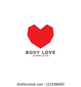 Boxy love graphic design template
