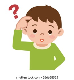 Thinking Kid Cartoon Images Stock Photos Vectors Shutterstock