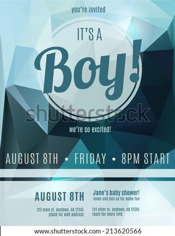 Boy birth announcement flyer design template stock vector royalty its a boy birth announcement flyer design template for baby shower maxwellsz