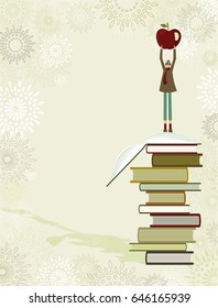 Boy and books