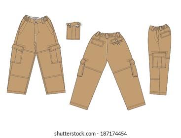 Boy cargo pants models.