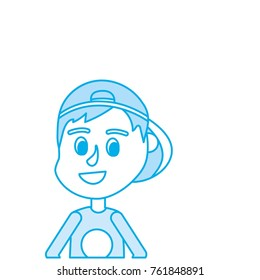 Boy cartoon icon Kid childhood little and people theme Isolated design Vector illustration