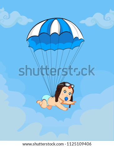 7fc3b31dc Boy Cartoon Vector Illustration Cute Baby Stock Vector (Royalty Free ...