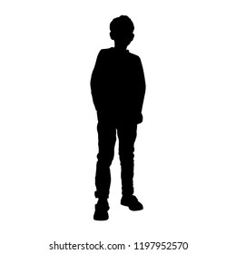 Boy (child, teenager) silhouette