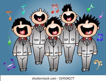 boy chorus in action