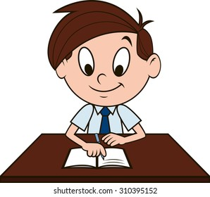 Boy at the desk