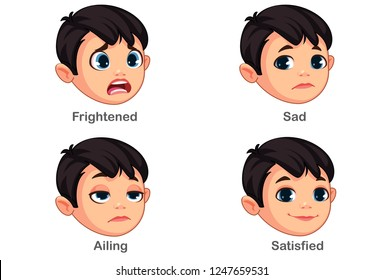 Boy with different facial expressions part 2
