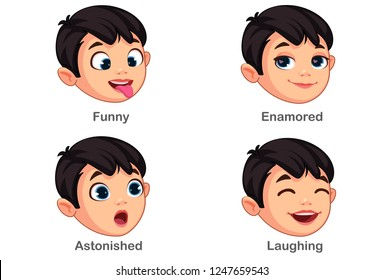 Boy with different facial expressions part 4