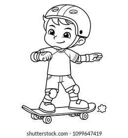 Boy Excersicing With His Skateboard BW.