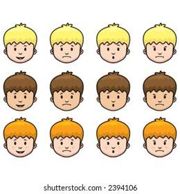 Boy facial expressions