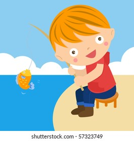 Boy fishing clipart free images 2 - ClipartBarn