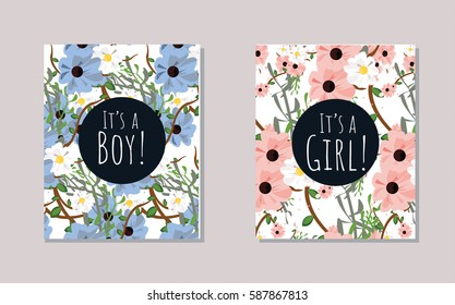 It's a boy it's a girl baby shower cards