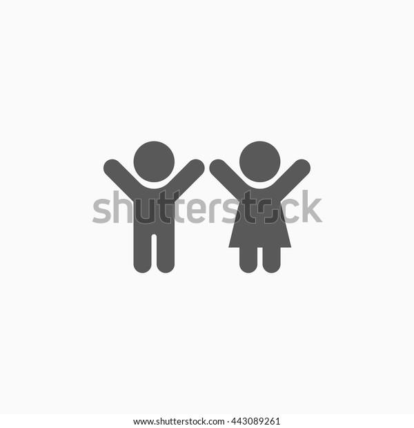 chlapec a dívka připojení