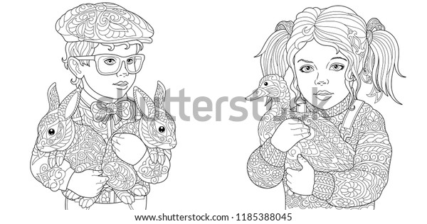 Dutch Boy and Girl coloring page | Free Printable Coloring Pages | 316x600