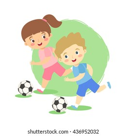 Girl Play Football Images, Stock Photos & Vectors | Shutterstock
