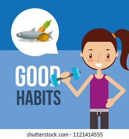 boy and girl healthy good habits