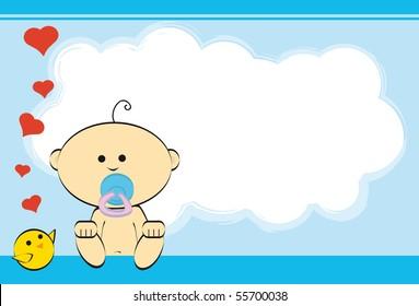 Boy. greeting card of a baby boy.