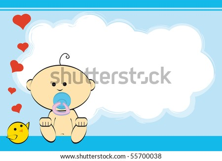 Boy greeting card baby boy stock vector royalty free 55700038 boy greeting card of a baby boy m4hsunfo