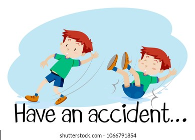 A Boy Having an Accident illustration