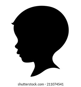 boy head silhouette