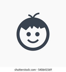 boy isolated minimal icon. child line vector icon for websites and mobile minimalistic flat design.