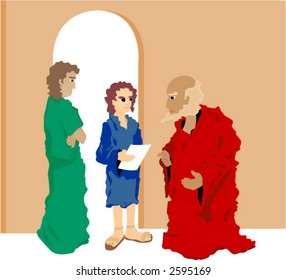 Boy Jesus In Temple Stock Illustrations Images Vectors Shutterstock