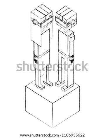 Boy Portrait Vr Headset Isometric Stock Vector Royalty Free
