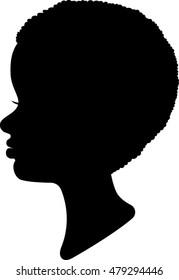 Boy Profile Silhouette - Vector Illustration