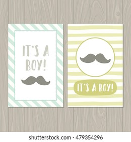 it's a boy. Set of two cards templates.