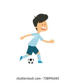 Boy Soccer Football Player. vector