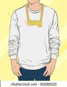 Boy swag. Vector illustration