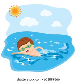 Swimming Cartoon Images Stock Photos Amp Vectors Shutterstock