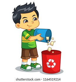 Boy Throwing Garbage Images, Stock Photos & Vectors ...