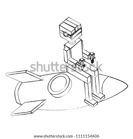 Boy Using Vr Goggles Sitting On Stock Vector Royalty Free
