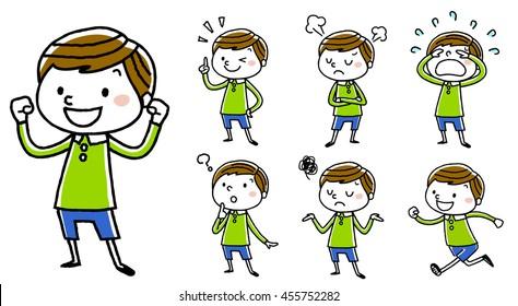 Boy: various poses