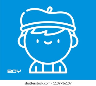 BOY VECTOR ICON