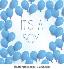 It's a boy! vector illustration eps10