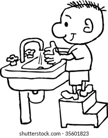 Drawing Clip Art Washing Hands