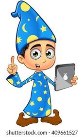 Boy Wizard In Blue
