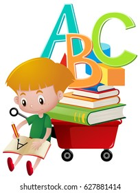 Writing School Kids Clip Art , Images & Illustrations | Whimsy Clips ®