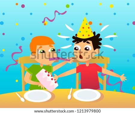 Boys Birthday Wishes Happy Birthday Throws Stock Vector Royalty