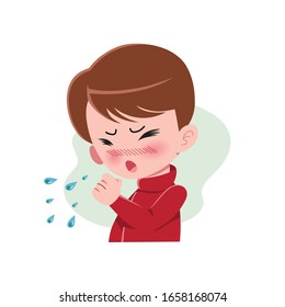 cough cartoon images stock photos vectors shutterstock https www shutterstock com image vector boys people suffering various symptoms common 1658168074