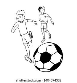 Vectores, imágenes y arte vectorial de stock sobre Football Draw