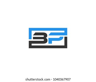 BP initial box letter logo template vector