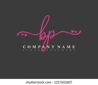 BP Initial handwriting logo vector